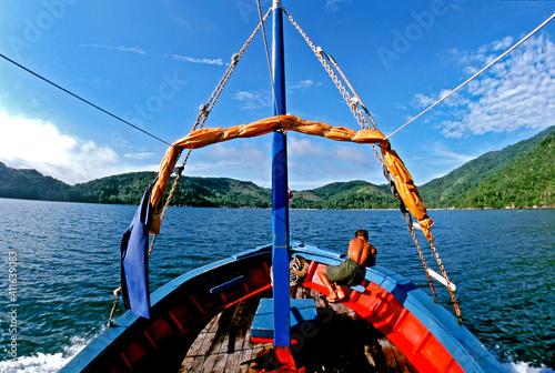 Obraz na plátně Barco de pesca em Ilha Grande. Angra dos Reis. Rio de Janeiro