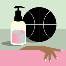 Hand, Basketball And Soap