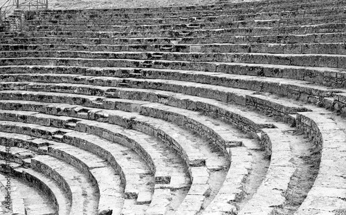 High Angle View Of Old Stone Amphitheatre Steps Fototapet