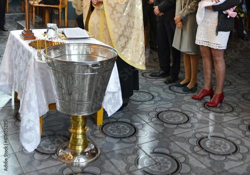 Canvastavla silver vessel for baptism in romania