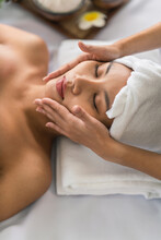 Beauty Woman Have Beaty Facial And Skin Treatment In Spa Salon
