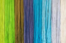 Colourful Threads Of Wool Background Texture