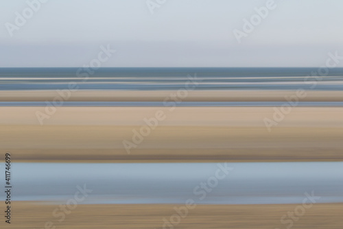 Abstract shot of beach and sea on the north sea island Juist, East Frisia, Germany, Europe. © DirkR