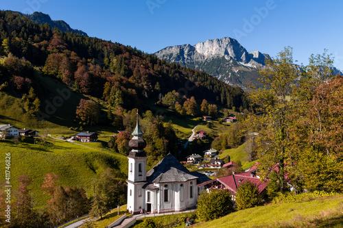Pilgrimage church Maria Gern near Berchtesgaden in Berchtesgadener Land, Bavaria, Germany. © DirkR