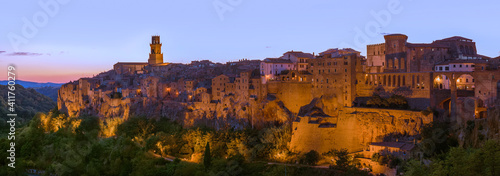Pitigliano medieval town in Tuscany Italy Fotobehang