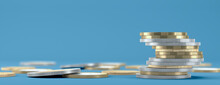 Abstract Euro Coins As Finance Symbol - 3D Illustration