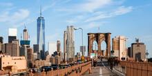 NYC Skyline And Brooklyn Bridge, New York City, USA