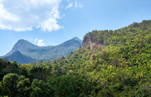 Northern Thailand Landscape. Mountains  Doi Luang Chiang Dao In Chiang Mai Province. Chiang Dao National Park. Thai Tropical Mountain Landscape