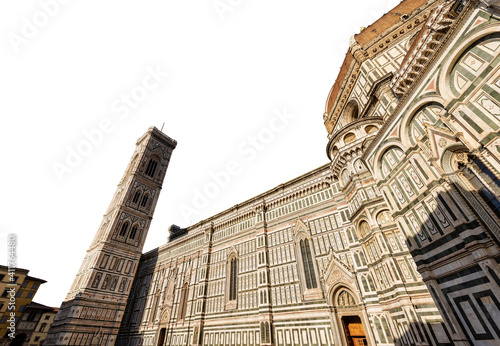 Cuadros en Lienzo Florence Cathedral isolated on white background