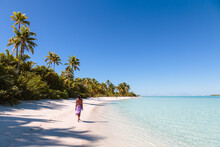 Woman On A Beach, Aitutaki, Cook Islands