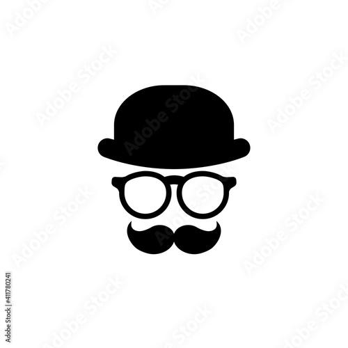Gentleman icon isolated on white background Fotobehang