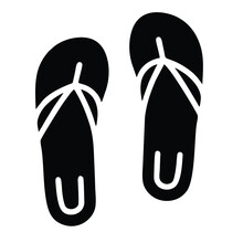 Flip Flop Icon Isolated On White Background From Travel Collection. Flip Flop Icon Trendy And Modern Flip Flop Symbol For Logo, Web, App, UI. Flip Flop Icon Simple Sign. Flip Flop Icon