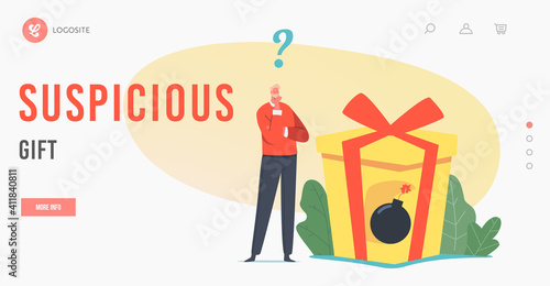 Stampa su Tela Suspicious Gift Landing Page Template