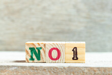 Alphabet Letter Block In Word No 1 On Wood Background