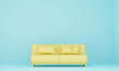 Leinwandbild Motiv Empty Yellow Seats Against Blue Background