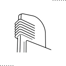Streamline Style Building Vector Icon In Outline