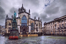 Saint Giles Cathedral Also Known As High Kirk Of Edinburgh, Scotland
