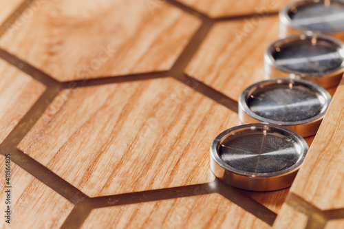 Fotografie, Obraz Playing backgammon game
