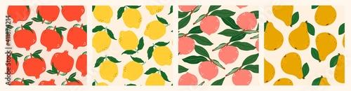 Fotografie, Obraz Juicy Pomegranates, Lemons, Peaches, Pears