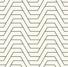 Vector Seamless Pattern. Modern Stylish Texture. Repeating Geometric Tiles With Linear Grid. Thin Monochrome Trellis. Trendy Graphic Design. Can Be Used As Swatch For Illustrator.