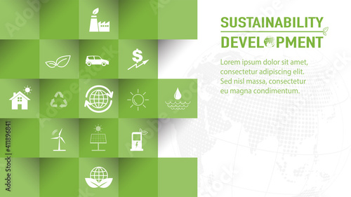 Tela Template design for Sustainability development and Global Green Industries Busin