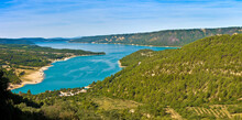 The Sainte Croix Lake (Holy Cross Lake) Where The Verdon River Flows (Europe-France-Provence)