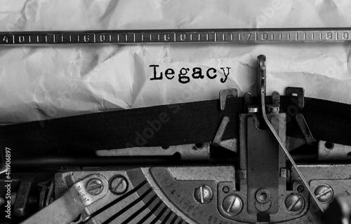 Tela Text Legacy typed on retro typewriter