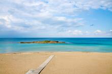 Fig Tree Bay In Protaras During Off Season.Cyprus Island