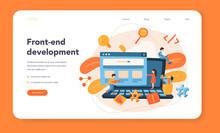 Front-end Development Web Banner Or Landing Page. Website