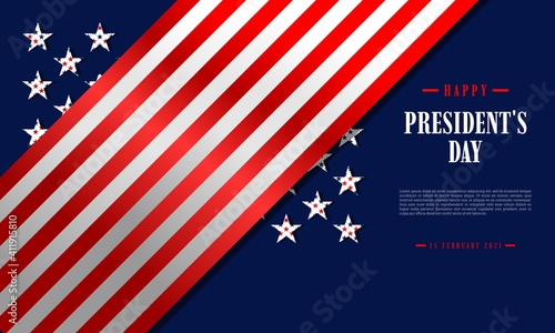 Fototapeta Happy President's Day background template
