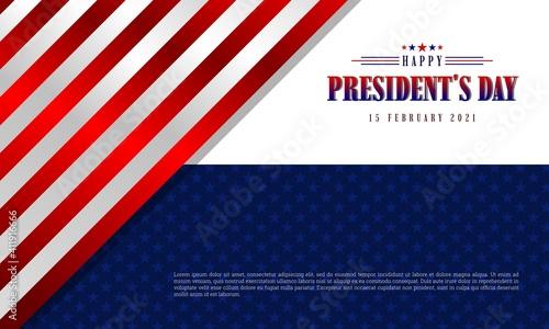 Fototapeta Happy President's Day background template
