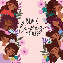 Black Lives Matter, African American Young Female Card
