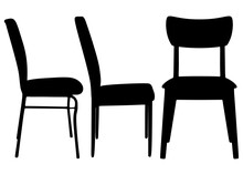 Chairs With Backrest Included. Simple Comfortable Chairs.