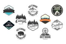 Bundle Of Ten Outdoor Adventure Letterings Emblems