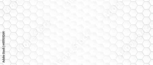 Abstract Hexagon white background with light and shadow. Modern Vector illustration