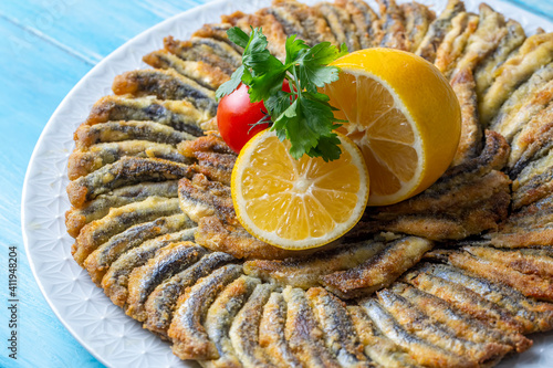 Fried Anchovies (Turkish Name: Hamsi Tava) © Esin Deniz