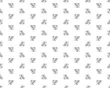 Seamless Silver Color Diamond On White Background
