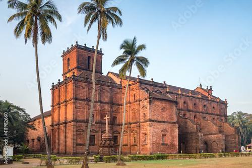 Fototapeta Basilica of Bom Jesus or Borea Jezuchi Bajilika in Old Goa, India