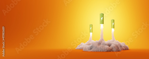 The power of green energy, clean and sustainable energy concepts, 3d rendering © tostphoto