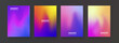 Abstract fluid color backgrounds. Mesh gradient posters. Modern vector template for Brochure, Flayer, Cover, Placard, Banner.