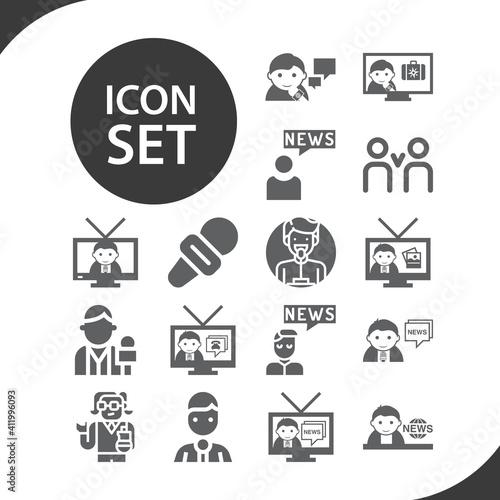 Obraz na plátně Simple set of activist related filled icons.