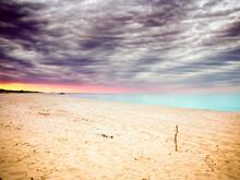 Dramatic Sky Over Beach, Sardinia, Italy