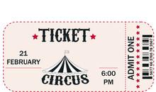 Illustration Catd Sticker Circus Ticket