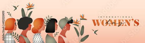Obraz International Women's Day tropical women group - fototapety do salonu