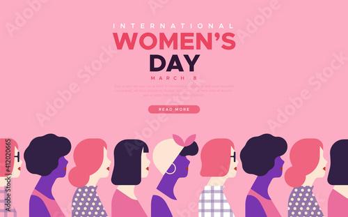 Obraz International Women's day diverse women template - fototapety do salonu
