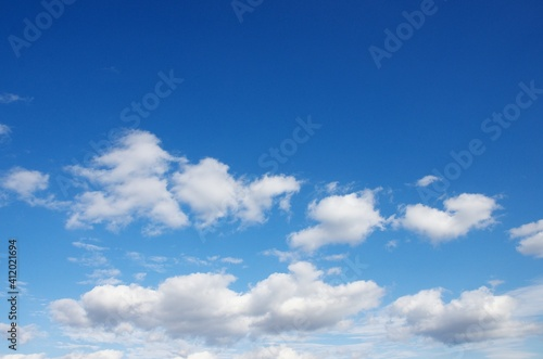 Fotografie, Obraz 晴れた冬の日の空と雲
