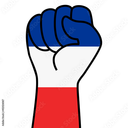 Canvas Print Raised french fist flag