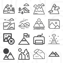 16 Pack Of Insist  Lineal Web Icons Set