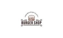 Burger Sale Illustration Logo On White Background
