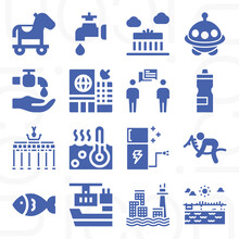 16 Pack Of Bay  Filled Web Icons Set